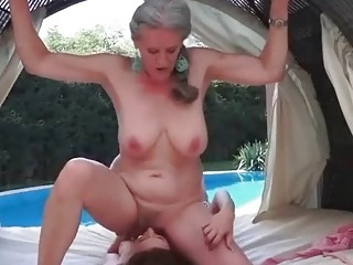 Grannies and Young Beaties Lesbian Compilation