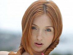 Redhead skinny beauty