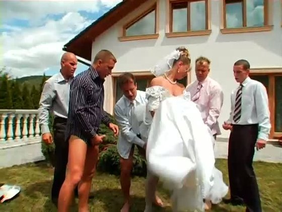 YOU MAY NOW GANGBANG THE BRIDE! / Miss Piss - Gangbang porn