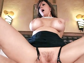 MILF Julia gets pounded by the enemy