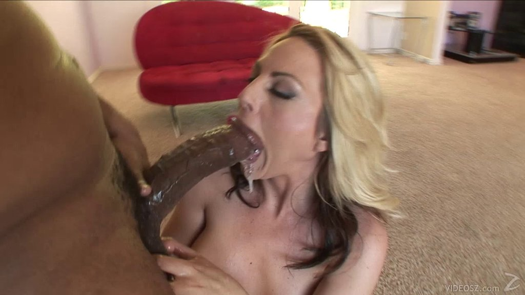 Delectable Cowgirl Gives A Big Black Cock A Wild Blowjob Then Takes It Up Her Shaved Pussy