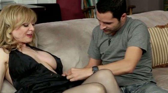 Filthy Family Volume black stockings - MILF porn