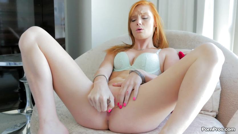 Raunchy redhead Alex Tanner warms up for her man | PornTube ®