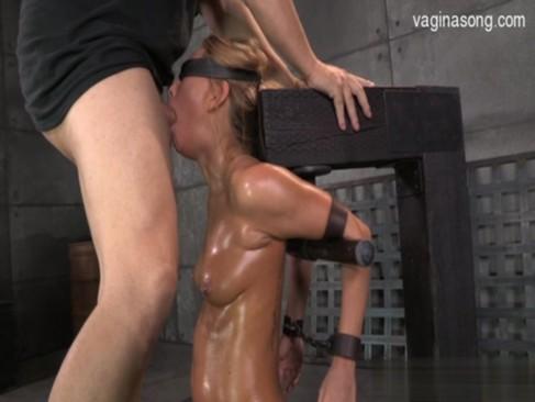 Horny student cum in throat