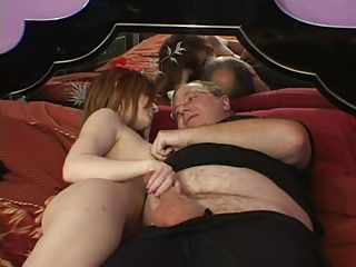 Girl suck old man