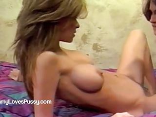 Busty MILFS dildo anal fucking