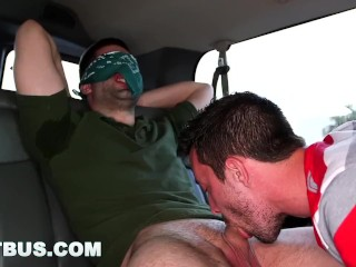 BAIT BUS - Dude With Dick Piercing Gets Gay Sex In Public