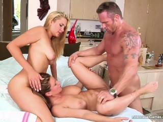 Devon Lee & Marcus London Threesome With a Teen