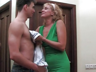 Hot mature and boy