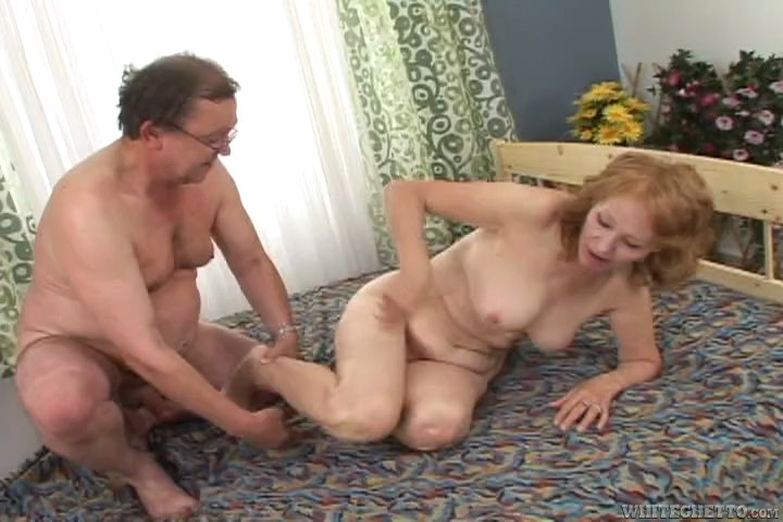 Slutty Granny Pussy Filled By A Surprisingly Fit Old Guy