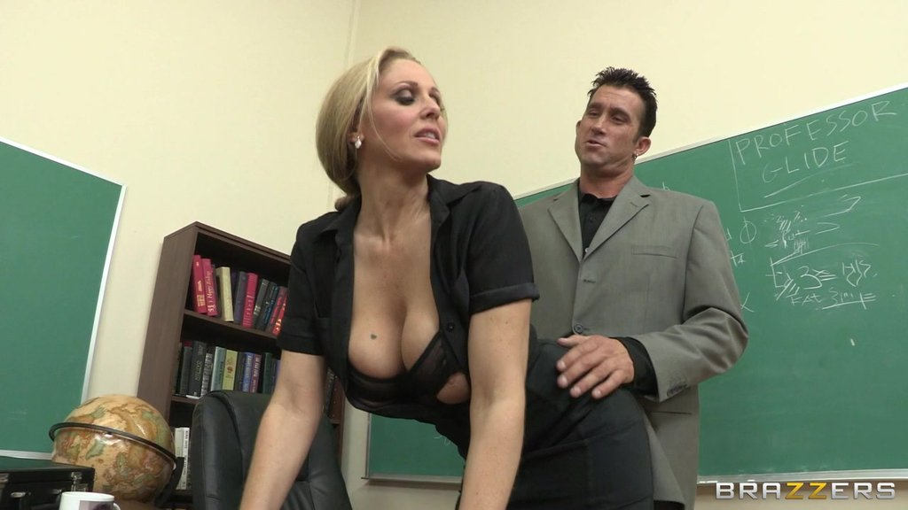 Milf Teacher Meets A Monster Cock In Her Classroom And She Takes It