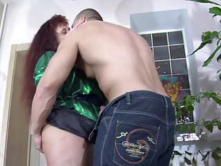 Hot mature with young guy
