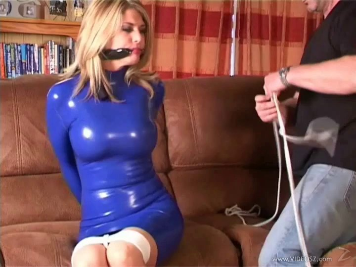 Latex And Bondage Fetish Video With A Sizzling Blonde Milf