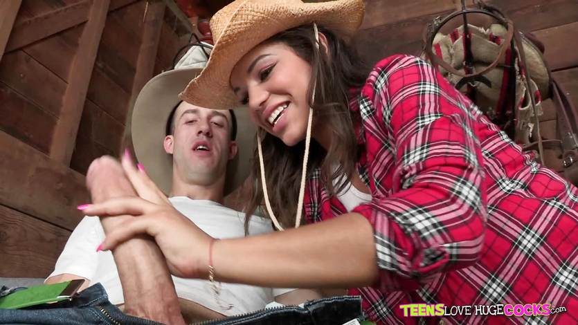 Cowgirl Gabriella Ford stuffed by a big dick | PornTube ®