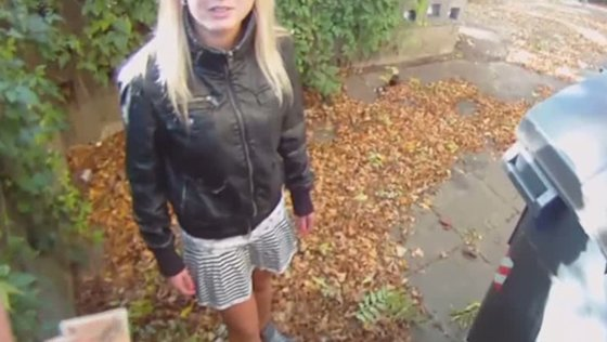 Horny stud wearing spy camera glasses fucks one amateur chick outdoor - Public porn