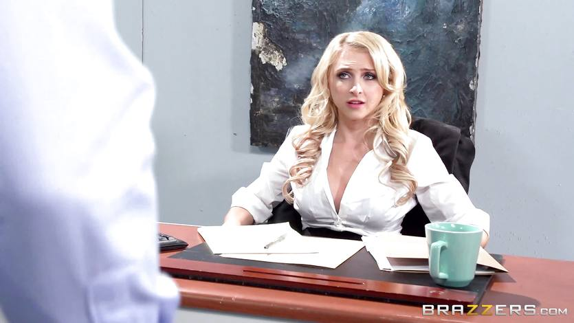 Sexy office babe Alix Lynx takes a second helping | PornTube ®
