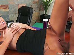 Hot Teen Trainee Whitney Fucks Her Dirty Old Married Boss On Her First Day! - Hardcore sex video