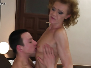 Hairy skinny granny fucking her toy boy