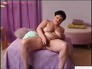55 years Granny Mariska Masturbates at home