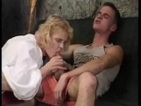 This horny cub gets down with a nice saggy granny