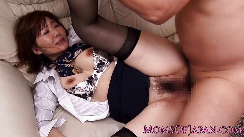 Asian milf flight attendant rammed in ass | PornTube ®