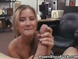 Blonde Waitress Pawns Herself P2