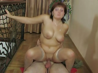 Russian milf Viola fucks young loverboy