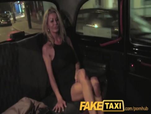 Mature escort Tia layne is fucked in taxi