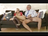 blonde young babe fuck by old man