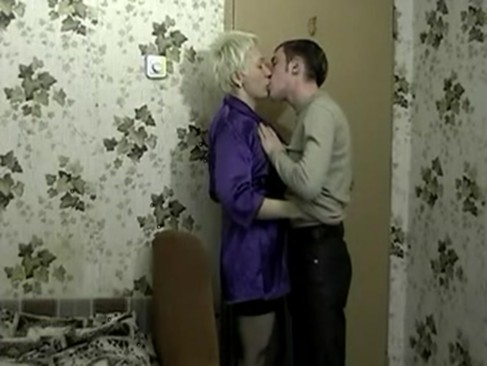 momlick com Blond mature suck and fuck young boy