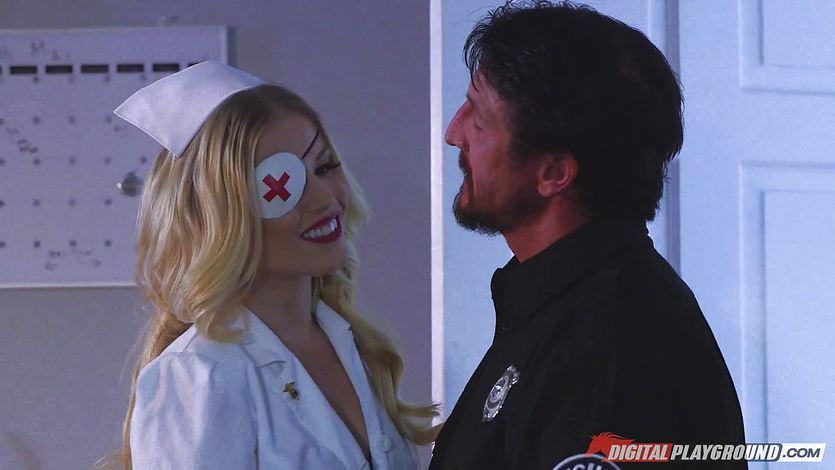 Naughty nurse Ash Hollywood fucked hard by Tommy Gunn | PornTube ®