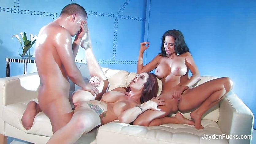 Jayden Jaymes shares a big cock with Ava Addams | PornTube ®