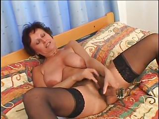 Horny Grandma Dasa Loves To Suck Black Cock