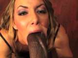 Blonde slut BEGS to have PUSSY SPLIT OPEN by Shorty Mac's HUGE BLACK COCK !