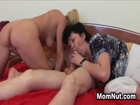 Naughty Mother Joins A Horny Couple
