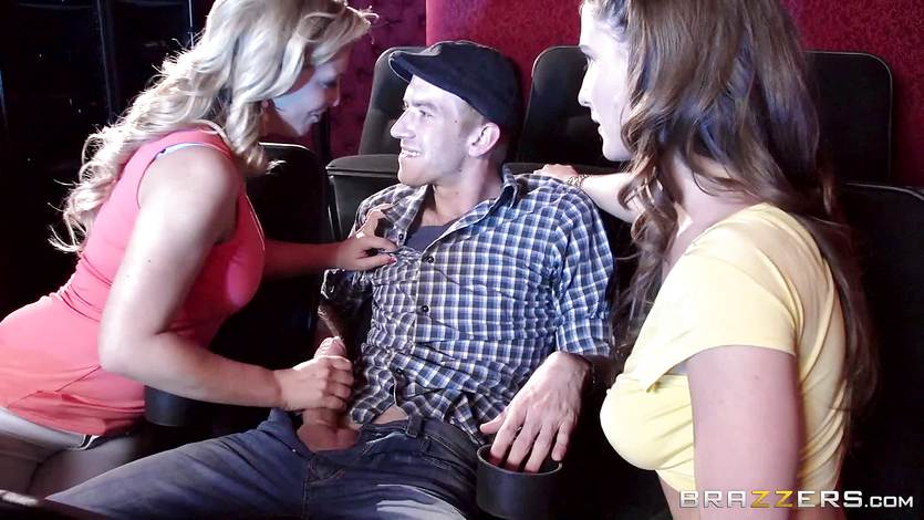 Cherie Deville and Molly Jane fuck cock in a porn theatre | PornTube ®