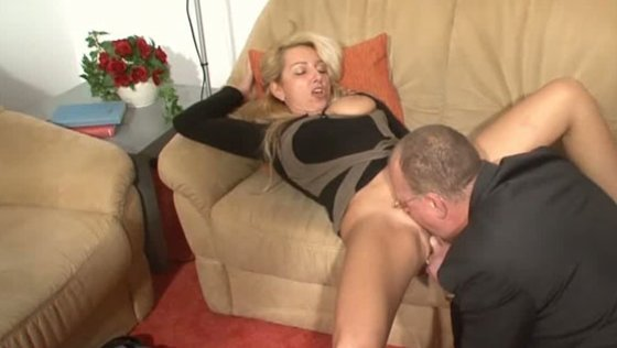 Mature secretary seduces her boss and gets fucked on the floor - Mature porn