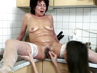Dirty grannies love big toys and young girl's fist