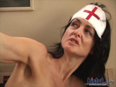 Lake plays horny nurse