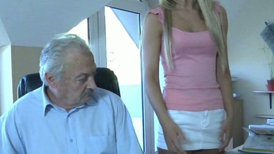 Oldman fucks his sweet and silly young maid - Older Man porn