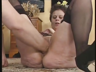 GERMAN MATURE FUCKED AND FISTED BY THREE GUYS