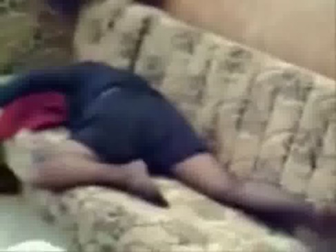 Spying my mom home alone masturbating on couch