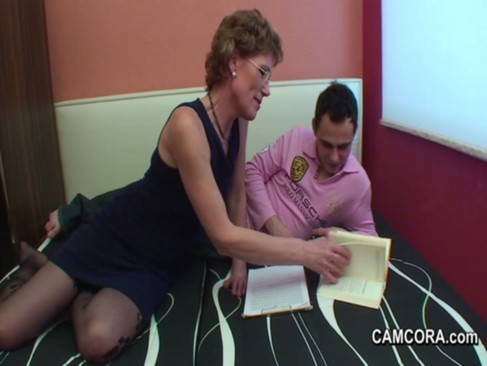 German Milf Teacher exploit young boy to fuck in privat lesson