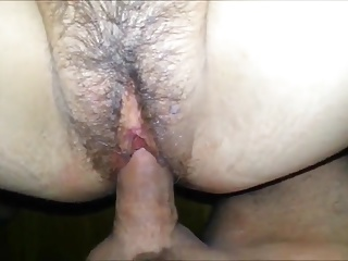 Fucking Hairy Wife - Quick1 Minute Creampie