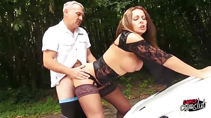 Dirty cumslut Milf pussy fucked hard and fast on bonnet | PornTube ®