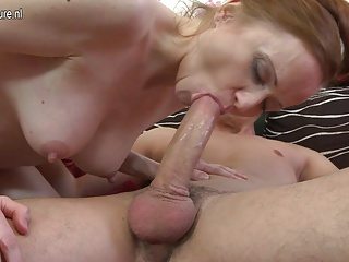 Steamy hot housewife fucking her younger lover