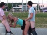 A must see PUBLIC street teen sex orgy