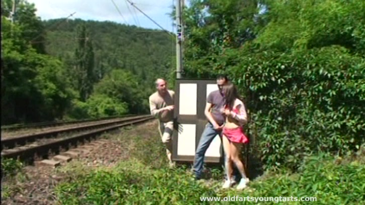 Can She Handle Two Cocks In An Outdoors Railway Station Sex