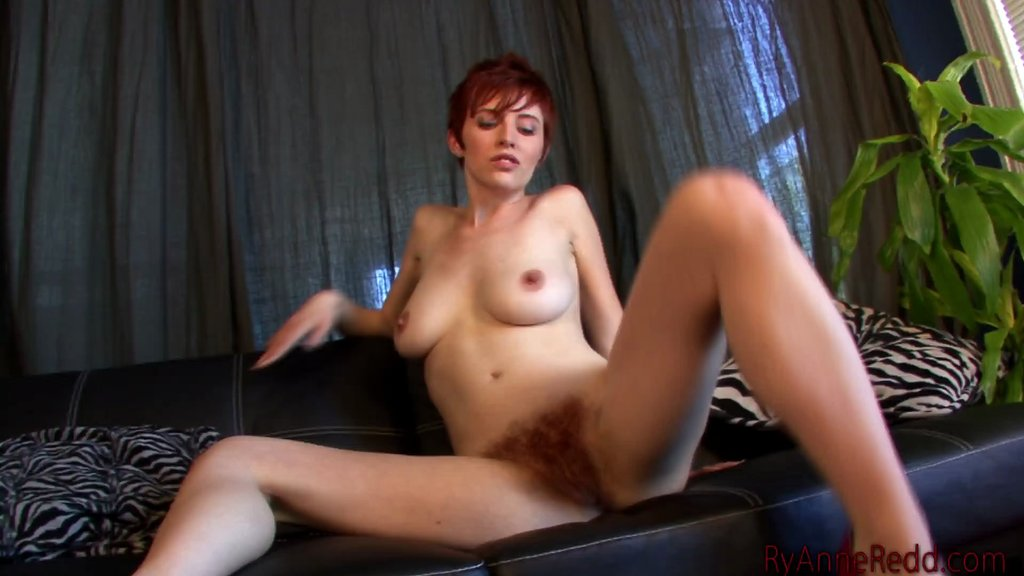Sizzling Cougar With Huge Natural Tits Playing With Her Hairy Pussy