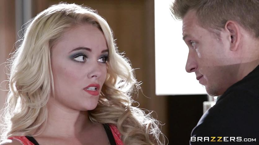 Bad wife Alexis Monroe deals with her husbands client | PornTube ®